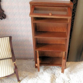 Miniature bookcase dollhouse furniture, 16cm x 8cm