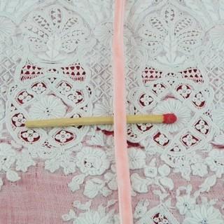 Vintage Velvet  pink ribbon 4 mms.