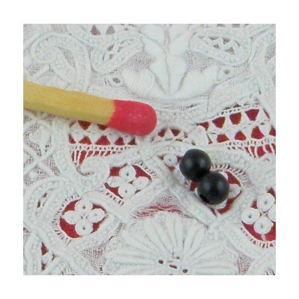 20 bouton scrapbooking tige unis Noir mercerie couture 15 mm couture œil ourson