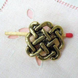 Shank golden button,  twisted cord 3 cm