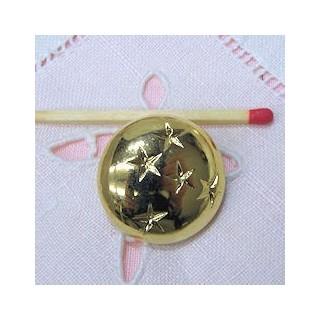 Vintage Shank golden button Designer style, 2 sizes.