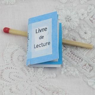 Livre de lecture miniature maison école poupée  2,7 cm x 1,7 cm.