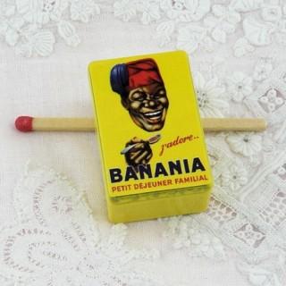 Boite métal miniature  Banania