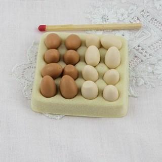 Boite oeufs miniature maison poupée,