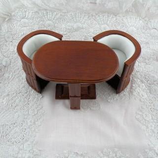 Oficina sillón lectura miniatura casa muñeca.