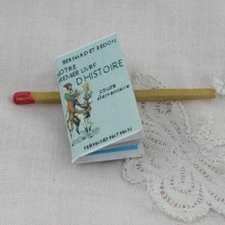 Livre d'Histoire miniature maison école poupée