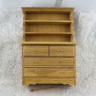 Dresser miniature, cupboard dining room doll house, 17 cms
