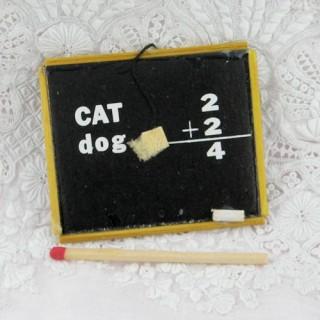 Miniature Chalkboard with frame doll school.