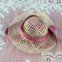 Sombrero de paja de sisal con saliente de 5 cm.