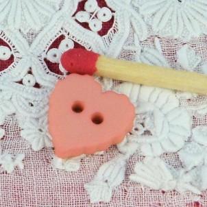 Bouton Coeur dentelé 11 mm