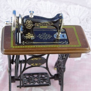 Miniatur Puppe Miniatur Pedal Nähmaschine