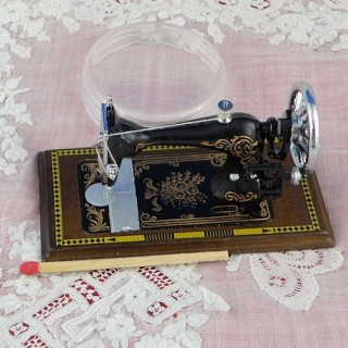 Sewing machine doll miniature luxurous