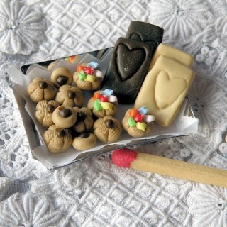 cookies tray for doll set miniature,