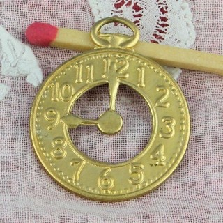 Watch metal pendant, bracelet charm clock