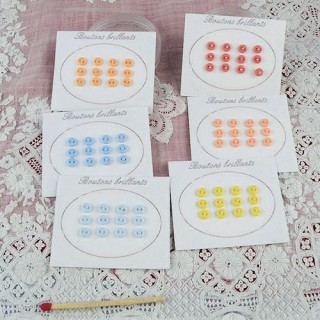 Carte 12 boutons minuscules 4 mm