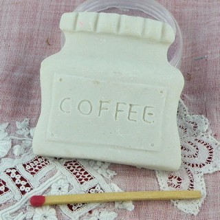 Teapot magnet, synthetic plaster, resin to decorate