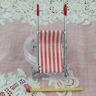 Baby stroller doll house miniature
