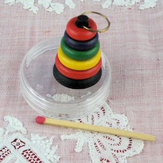 Miniature rings wood toy doll house miniature,