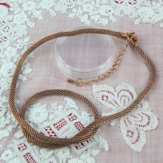 Silver rope shaped necklace 45 cms