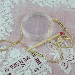 Chaine fine maille serpent fermoir enfile perle fabrication bijoux
