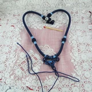 Cordon fermé à noeud fixation bijoux