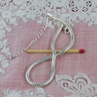 Bracelet maille serpent pour perles création bijoux
