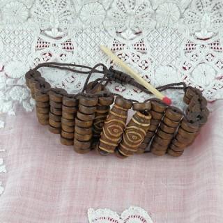 Perlas de madera pulsera en encaje barato