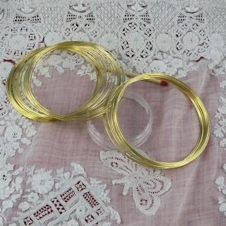 Chapado en oro pulsera alambre memoria de ultraguay