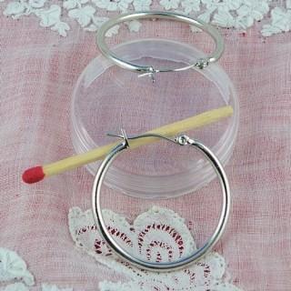 Créoles Boucles oreilles anneaux àfermoir 20 mm.