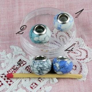 Large hole glass beads 14 mms.