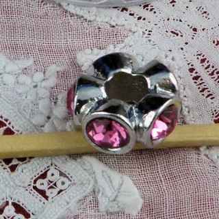 Large hole strass glass beads 13 mms.