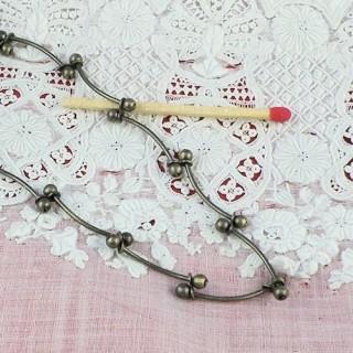 Chaà®ne bijouterie métal au mètre, fourniture bijouterie.
