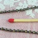 Chaine boules 2 mm bijouterie au mètre