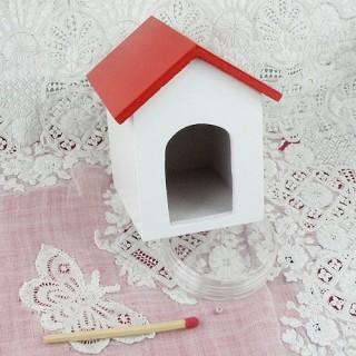 Niche chien miniature maison poupée 5 cm.