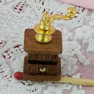 Moulin àcafé miniature maison de poupée 3 cm