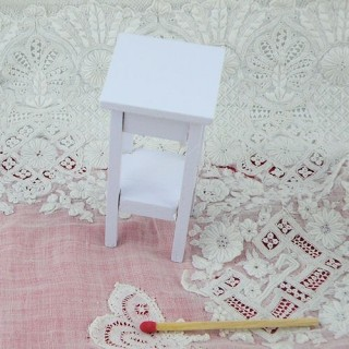 Miniature Miniature White Side Stand for doll house