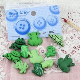 Buttons Dress It Up: frogs,