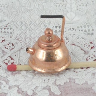 Copper tea kettle doll miniature 2 cms