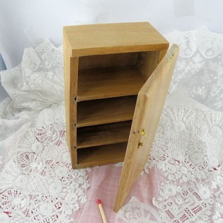 Oak Fridge furniture for dollhouse kitchen 12 cms