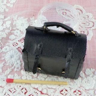 Cartera bolso(cartera) cuero miniatura casa muñeca 44 mm