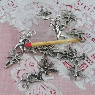 Pendant angel, Cherub, fairies charms set of 13 pieces