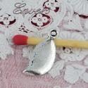 Breloque feuille plume miniature
