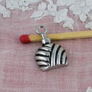 Spray miniature, bracelet charm metal 1cm, 10 mm.