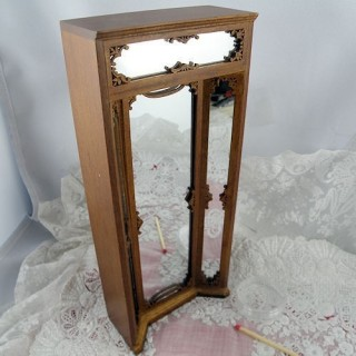Miroir miniature boutique maison poupée 1/12.