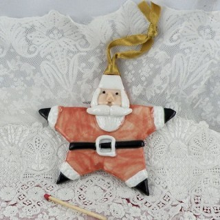 Santa Claus Star Christmas decoration 10 cm.