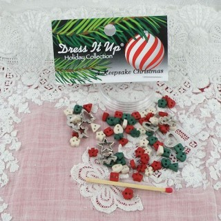 Buttons Dress it up,Christmas miniatures,
