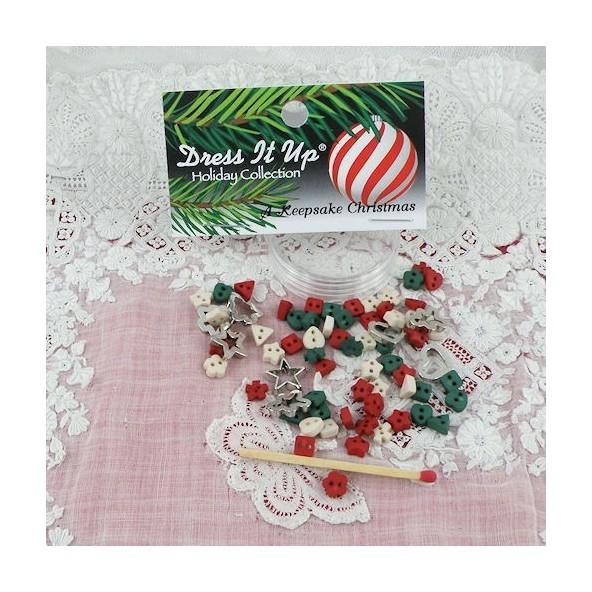 Christmas Miniatures.Buttons Dress It Up Christmas Miniatures Mercerie De Poupee