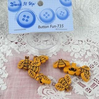 Botones abejas miniatura Dress IT up