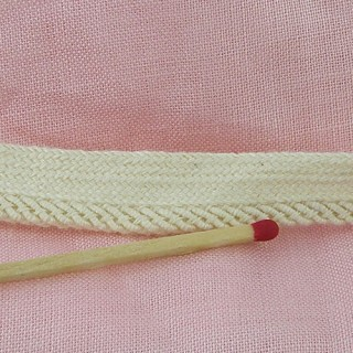 Ribete pasamanería algodón 6 mm. vendido al metro
