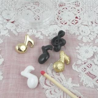 Boutons  MUSIQUE, instruments, notes, clef de Sol.